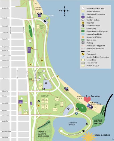 Chicago Lakefront Map